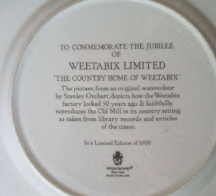 1986 50th Anniversary Wedgewood Ltd Edition plate (2)