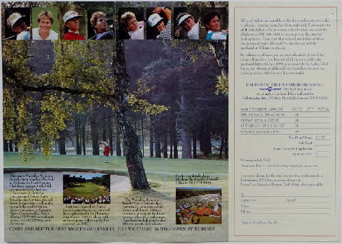 1994 Weetabix Golf Open Leaflet (1)
