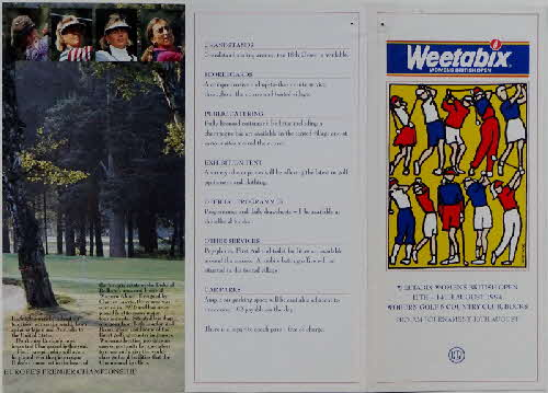 1994 Weetabix Golf Open Leaflet (2)
