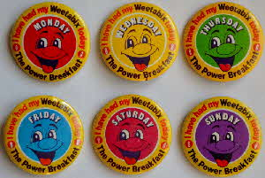 Weetabix Promotional days of week badges
