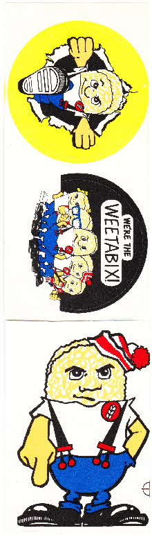 1980s Weetabix Gang Stickers (same as badges) (2)