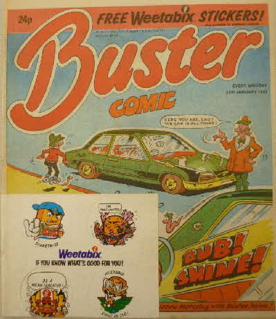 1987 Weetabix Buster Comic Stickers (2)