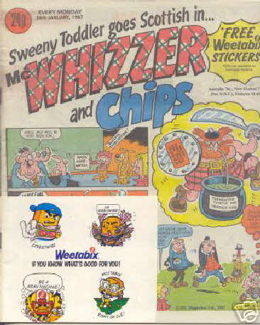 1987 Weetabix Weetagang Whizzer & Chips Stickers (betr) (1)