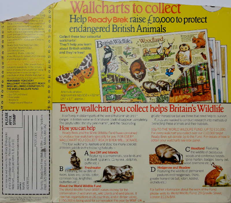 1970s Ready Brek British Wildlife Wallcharts  (1)