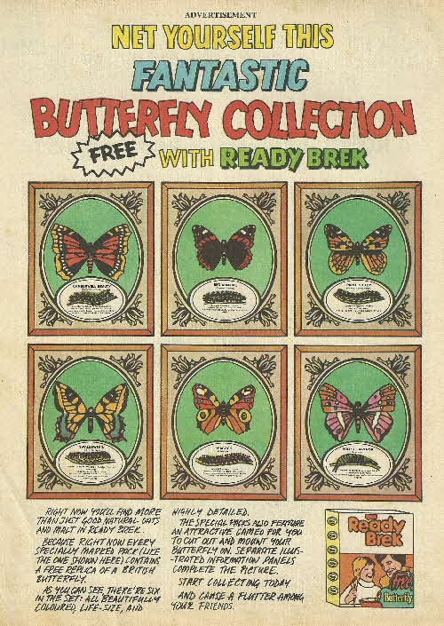 1975 Ready Brek Butterfly Collection1