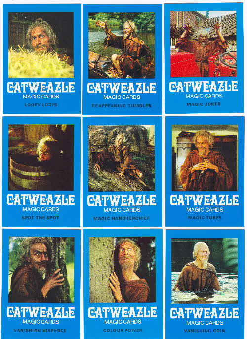 1970s Ready Brek Gatweazle Magic Cards 1