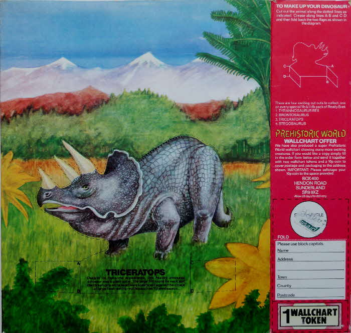 1977 Ready Brek Dionsaurs Triceratops1