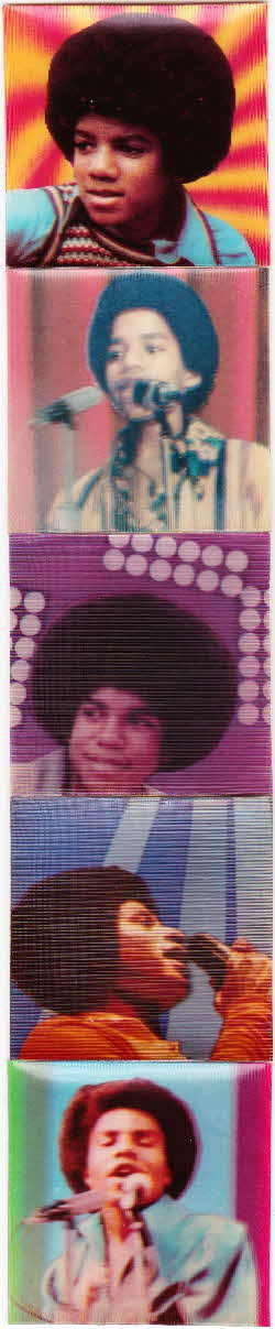 1970s Ready Brek Jackson Five 3D Picture Cards (2)
