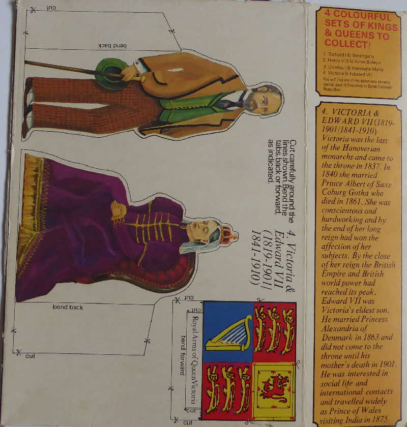 1970s Ready brek Kings & Queens Cut Outs (3)