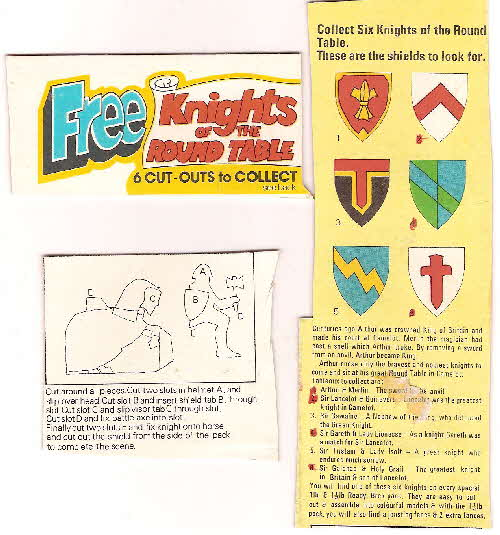 1970s Ready Brek Knights of Round Table