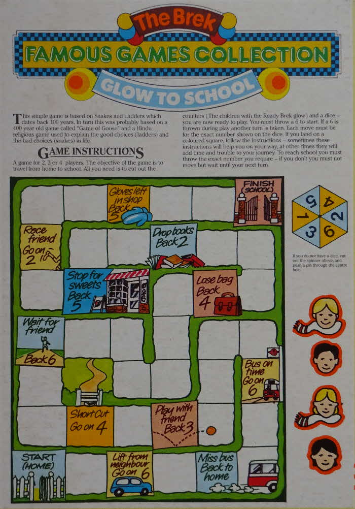 1980s Ready Brek Famous Games Glow to School
