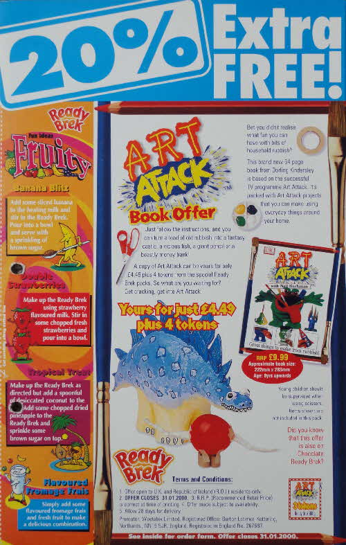 1999 Ready Brek Art Attack Book Offer 2
