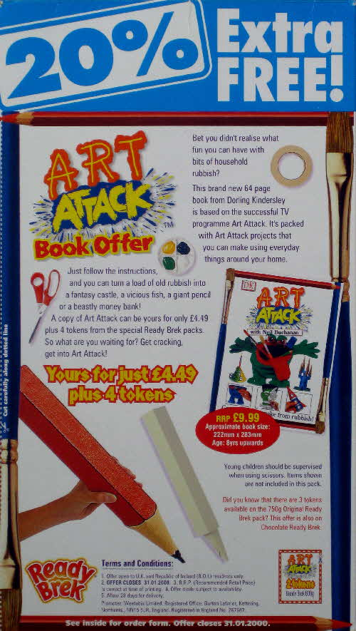 1999 Ready Brek Art Attack Book Offer