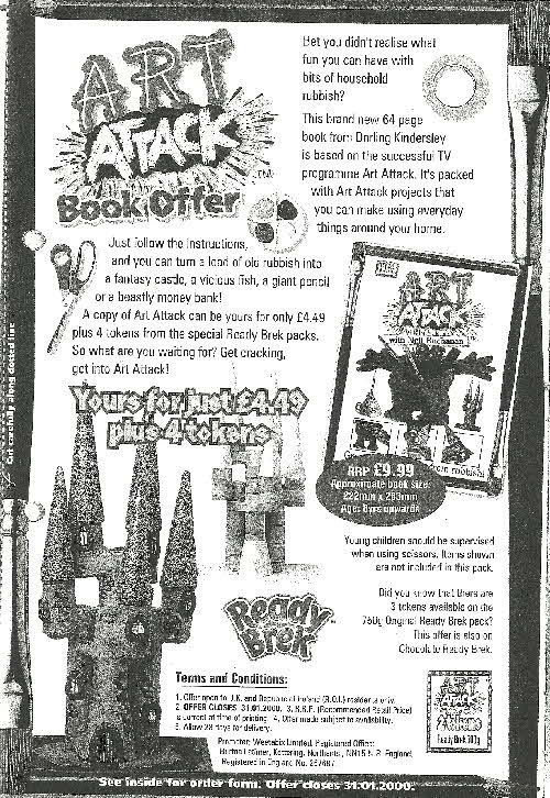 1999 Ready Brek Art Attack Nook Offer (betr)