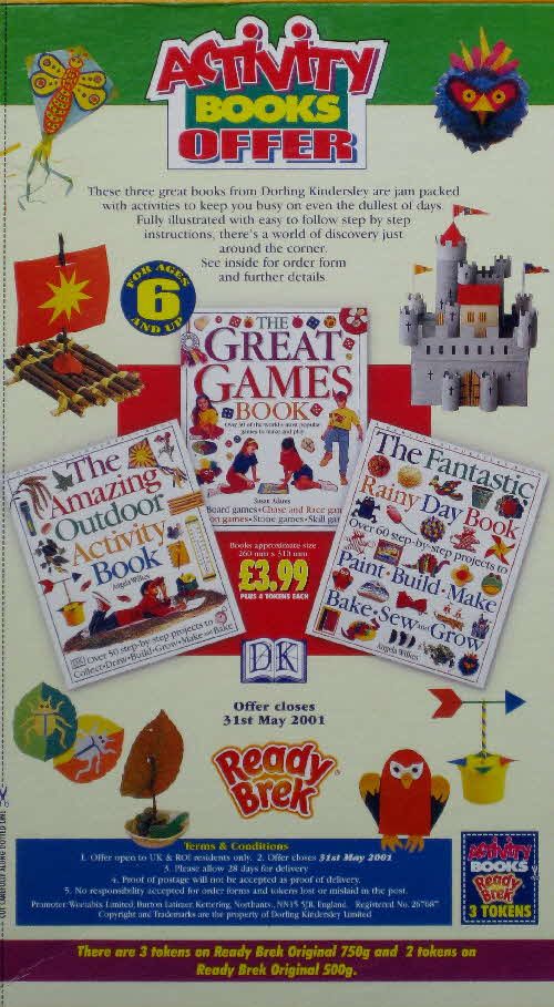 2000 Ready Brek Activity Book Offer