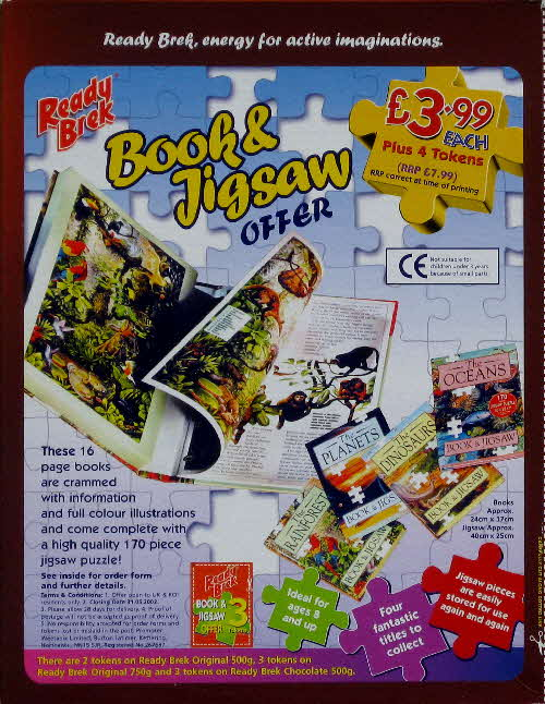 2001 Ready Brek Book & Jigsaw Offer