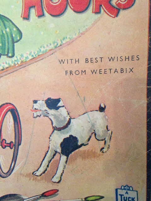 1950s Weetabix Raphael Tuck Happy Hours Painting Colouring In Book 1b