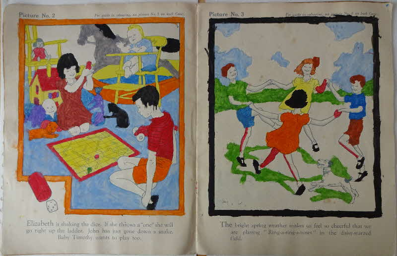 1950s Weetabix Raphael Tuck Happy Hours Painting Colouring In Book 5