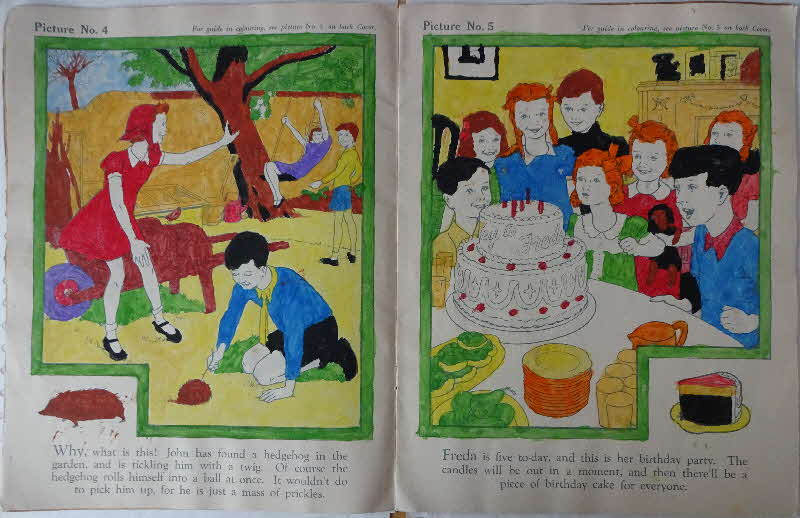 1950s Weetabix Raphael Tuck Happy Hours Painting Colouring In Book 6