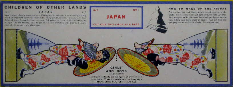 1959 Weetabix Children of Other Lands set 1 Japan