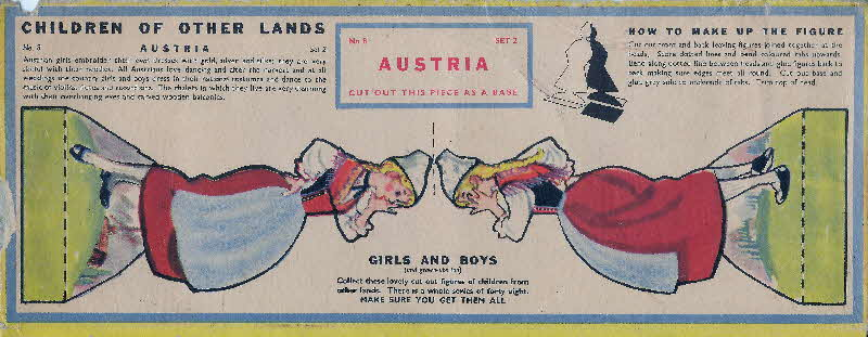 1959 Weetabix Children of Other Lands set 2 Austria