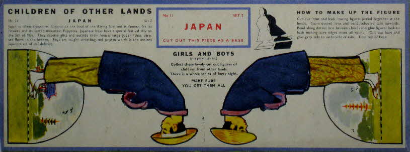 1959 Weetabix Children of Other Lands set 2 Japan