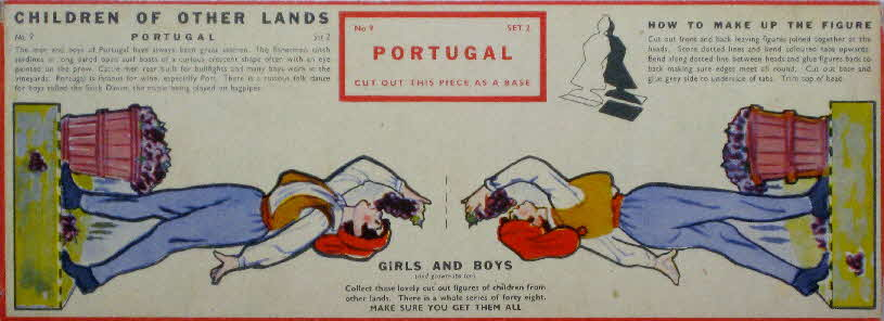 1959 Weetabix Children of Other Lands set 2 Portugal