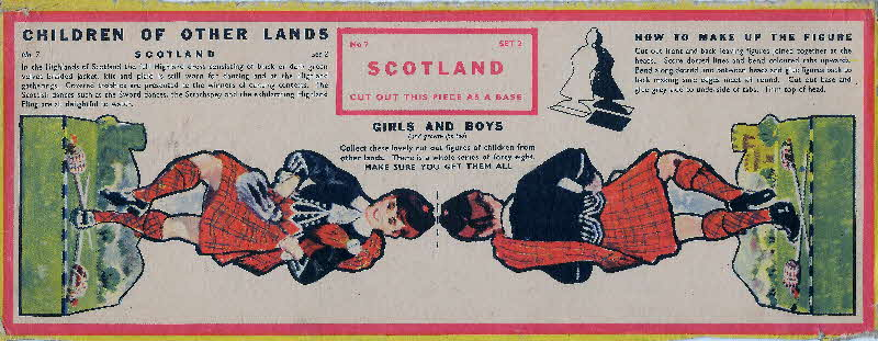 1959 Weetabix Children of Other Lands set 2 Scotland