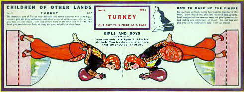 1959 Weetabix Children of Other Lands set 2 Turkey (betr)