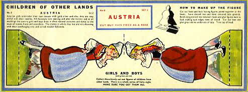 1959 Weetabix Children of other lands Set 1 Austria (betr)