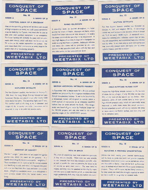 1959 Weetabix Conquest of Space Series A reverse (2)