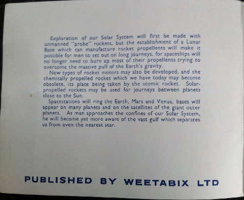 1959 Weetabix Conquest of Space Series B album  (1)