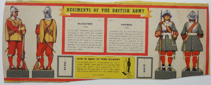 1959 Weetabix Regiments of British Army Set 1 No 7 Musketeer - Copy