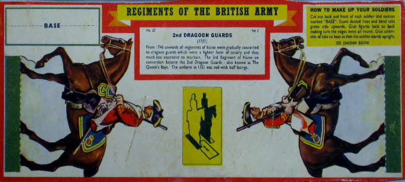 1960s Weetabix Regiments of British Army Set 2 2nd Dragoon Guards