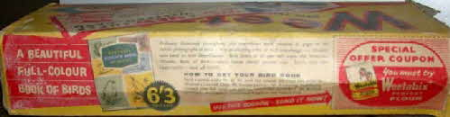 1950s Weetabix Full Colour Book of Birds - on side Regiments pack