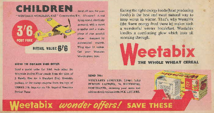 1957 Weetabix Wonder Offers (2)
