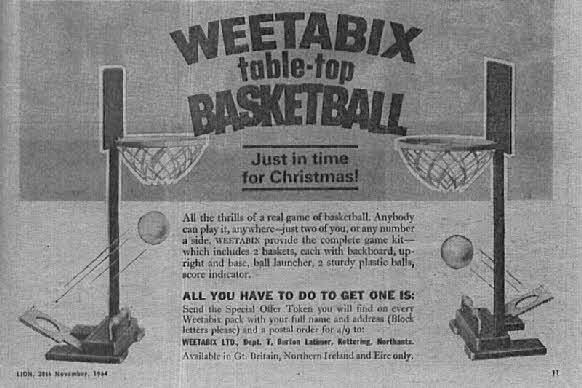 1964 Weetabix Basketball Game