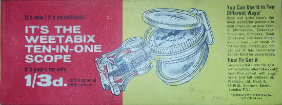1962 Weetabix 10 in 1 Scope pkt (1)