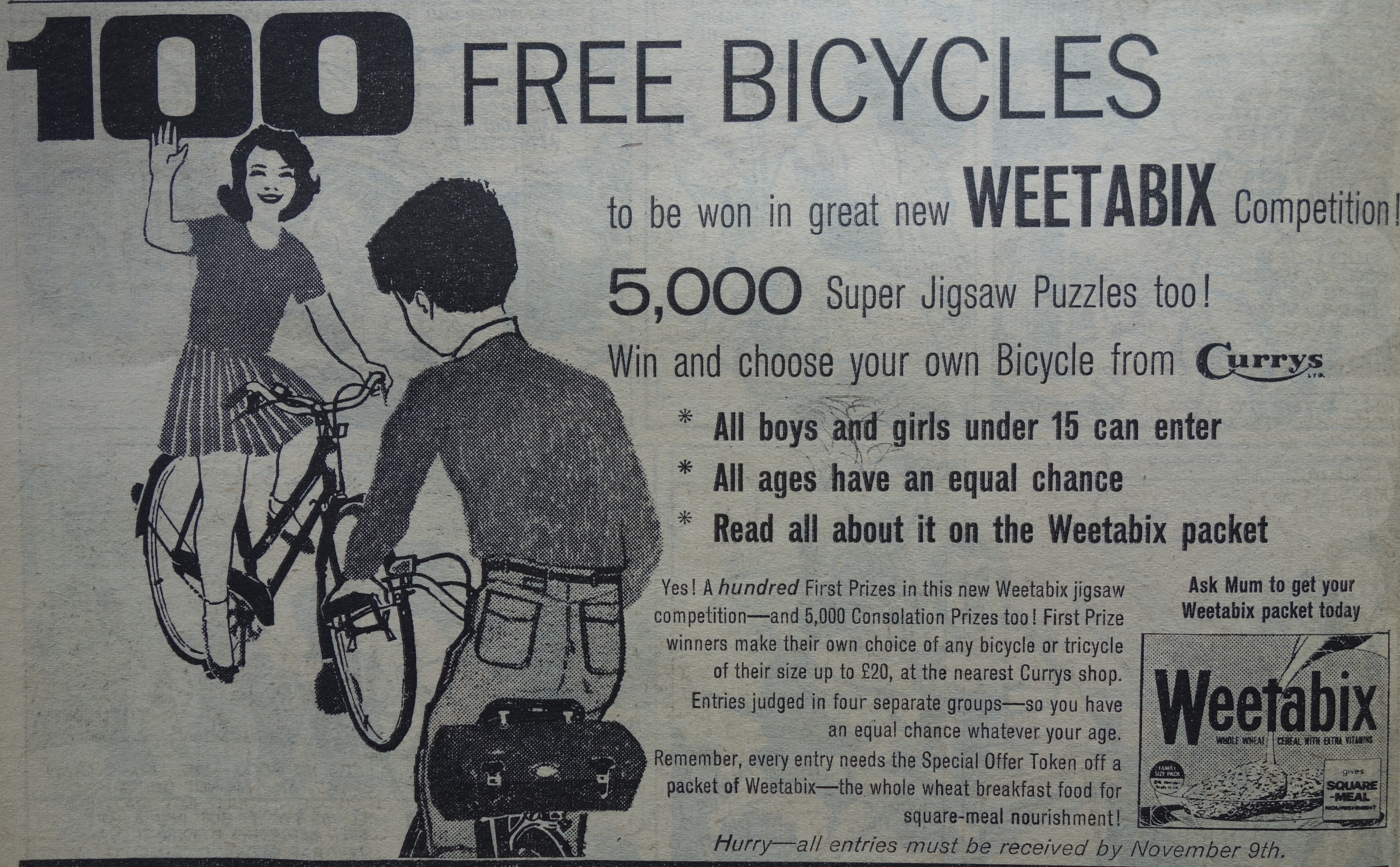 1963 Weetabix Bicycle Competition2