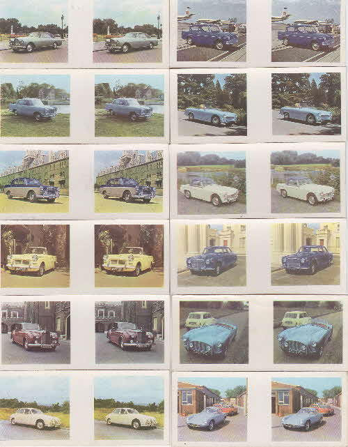 1963 Weetabix British Cars 3D cards 1 front