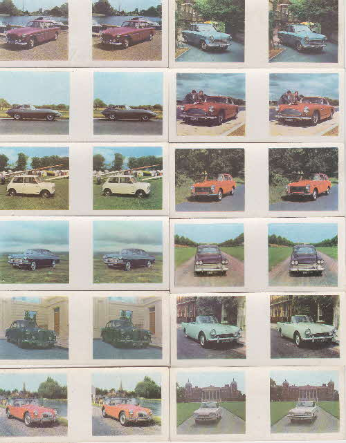 1963 Weetabix British Cars 3D cards 2 front
