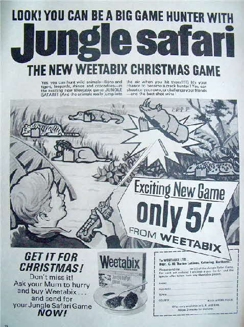 1966 Weetabix Jungle Safari game