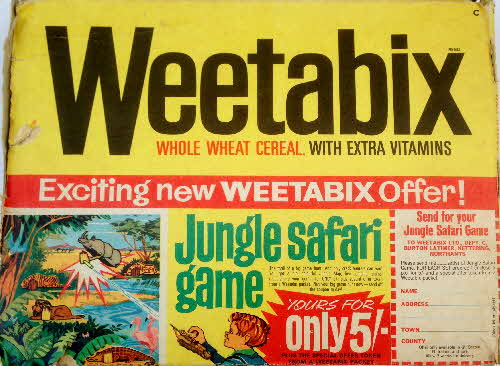 1966 Weetabix Jungle Safari game1