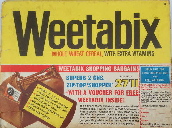 1967 Weetabix Shopping Bag