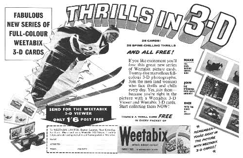 1961 Weetabix Thrill 3D cards1 ad