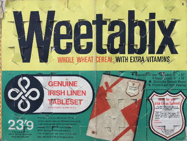 1967 Weetabix Irish Linen1