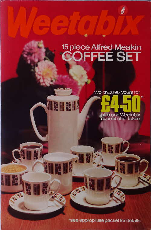 1970 Weetabix Coffee Set Shop Poster