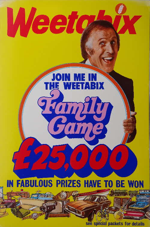1974 Weetabix Bruce Forsyth Family Game Shop Poster