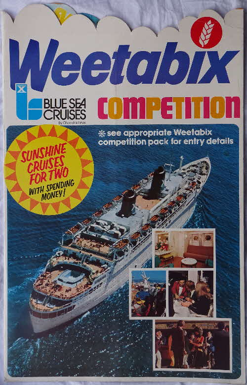 1970s Weetabix Win a Sea Cruise Shop Display (2)