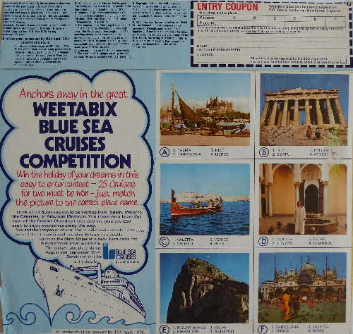 1974 Weetabix Sea Cruise Competition